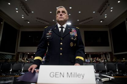 Gen. Mark Milley appears before a Senate Armed Services Committee hearing on Capitol Hill in Washington in this 2019 file photo. (AP Photo/Andrew Harnik)