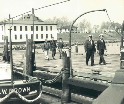 Before they could access the mainland, immigrants entering the U.S. through Baltimore were stopped at a Quarantine Station to be screened for illness. The station moved several times before landing at Leading Point, about 8 miles south of Fort McHenry, in 1918.
