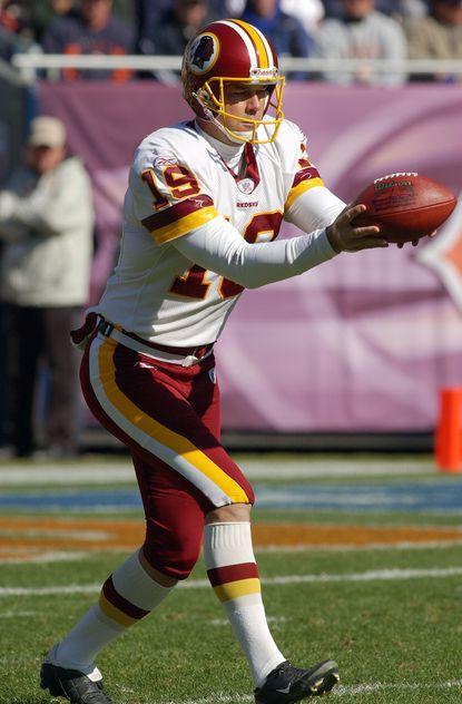 Former Redskins punter Tom Tupa was injured in 2005 during pre-game warm-ups.