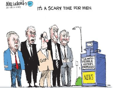 Cartoonist Mike Luckovich on GOP lawmakers' treatment of women.