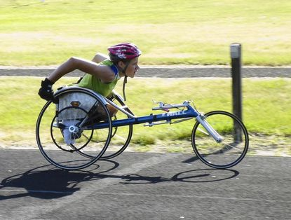 Para-athlete Daniel Romanchuk will be participating in this weekend's Mid-Atlantic Region Paratriathlon Clinic at the Bennett Institute.