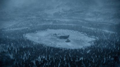Jon Snow's party beyond the wall is surrounded by wights.