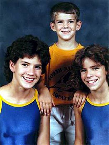 Michael Phelps was 3 in this photo taken in 1988 with sisters Hilary (left), and Whitney.