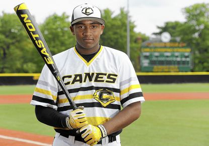 Brandon Dorsey, a rising sophomore at Calvert Hall, has shown outstanding power for the national showcase Evoshield Canes. The third baseman is already drawing interest from several big-name colleges.