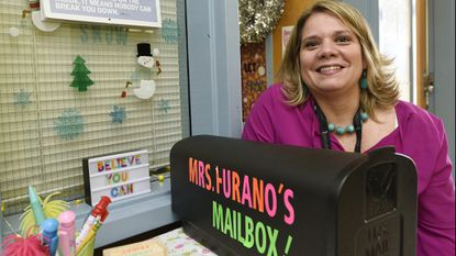 Manchester Elementary School counselor Gwen Furano keeps a mailbox where students can drop their concerns outside the counseling office Tuesday, Feb. 5, 2019. The week of Feb. 4 is National School Counseling Week.