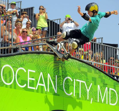 Tom Schaar is seen here at the Dew Tour in Ocean City last year.