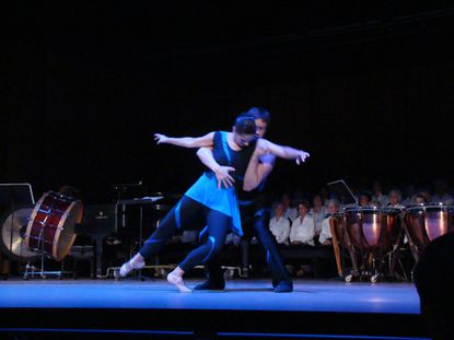"""Ballet Theatre of Maryland dancers Meagan Helman and Alexander Collen dance """"Collage"""" excerpt at the Sept. 28 event marking the unveiling of upgrades at Maryland Hall for the Creative Arts."""