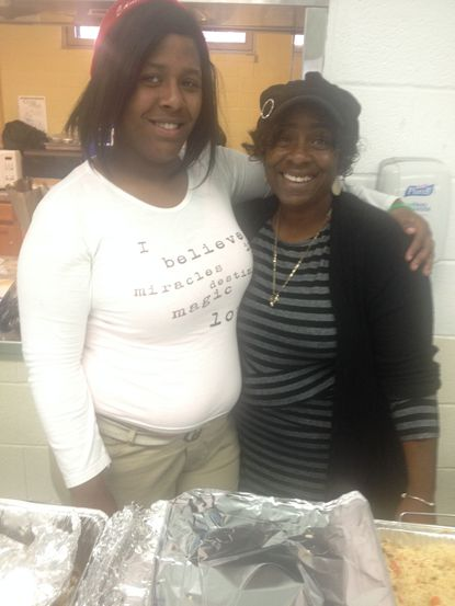 Shankea Conigland of Baltimore (left) and Cindy Williams, founder and CEO of Loving Arms Inc., an emergency shelter for homeless youth (right)