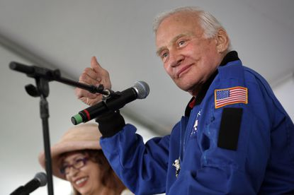 Buzz Aldrin, at the L.A. Times Festival of Books in 2010, spoke his mind in a Reddit AMA.