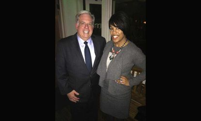 Gov.-elect Larry Hogan and Mayor Stephanie Rawlings-Blake had dinner Monday and took this picture, which Hogan's campaign posted on Facebook.