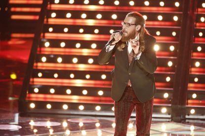Nicholas David performs on Monday.