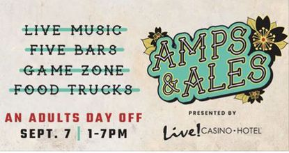 Enter for a chance to win tickets for two to the Amps and Ales Festival at Maryland Live Sept.