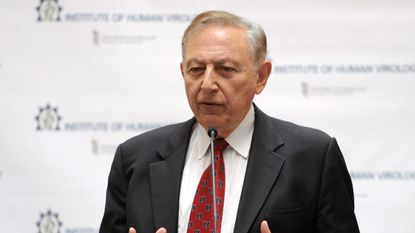 Dr. Robert Gallo, director of the Institute of Human Virology at the University of Maryland School of Medicine, shown in this 2015 file photo, co-authored a study that shows how some bacterial infections contribute to cancer.