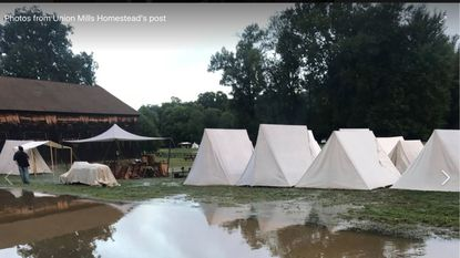 Union Mills Homestead in Carroll County canceled its annual Corn Roast Festival because of muddy grounds.