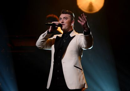 Sam Smith performs at the Apollo Theater on June 17, 2014, in New York City.