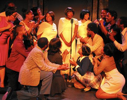"A scene from ArtsCentric's production of ""Dreamgirls"" at Motor House."