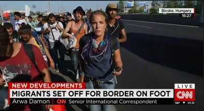 CNN's Arwa Damon reports on refugees marching across Hungary to Germany.
