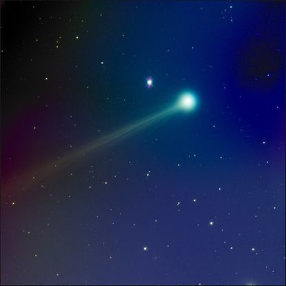Comet ISON, as captured by Monkton astrophographer Mike Hankey using a 60-second exposure and in RGB color space.