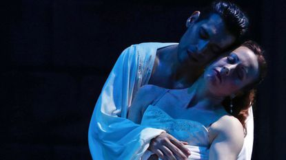 """Diego Sosa as Romeo and Nicole Kelsch as Juliet in Ballet Theatre of Maryland's production of """"Romeo and Juliet"""""""