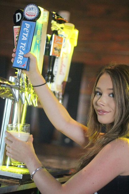 PETA Tears, an American-style lager, will be on the menu at Jimmy's Seafood starting July 24.