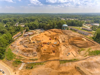 Construction of Arnold Elementary School, completed earlier this year, required massive clearing. Legislation before the County Council would change the rules for removing forests for development but would exempt Anne Arundel County Public Schools.