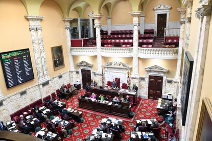 The Maryland Senate worked to pass necessary bills before the last day of the session on Wednesday Mar 18. The session was cut short in light of the coronavirus pandemic.
