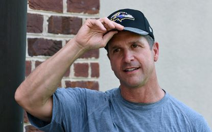Ravens coach John Harbaugh admits responsibility during post workout news conference for the violation that caused the Ravens to forfeit one week of OTA for violating offseason workout rules under the Collective Bargaining Agreement.