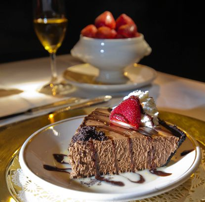 The Prime Rib's no-bake pie, featuring a rich chocolate mousse, has been on its menu for years.