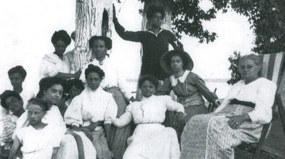 A summer gathering of ladies at Highland Beach in the early 1900s.