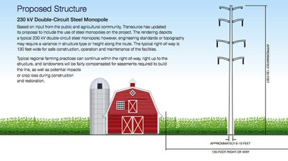 This is an illustration of the Transource Energy Project that is being opposed by northern Harford County residents.