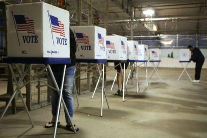 Voters mark their ballots in Illinois on Nov. 8, 2016.