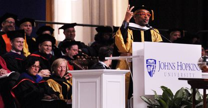 Filmmaker and director Spike Lee delivers the commencement speech to the 2016 graduating class of Johns Hopkins University.