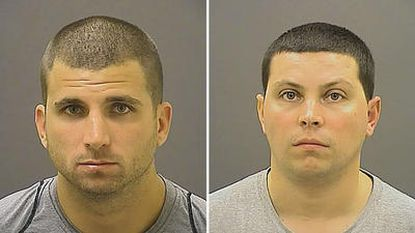 Scott Smith of Mt. Vernon, N.Y., left, and Andrew Nappi of Eastchester, N.Y., pleaded guilty to misdemeanor assault in an attack lasr fall on a Ravens' fan at M&T Bank Stadium.