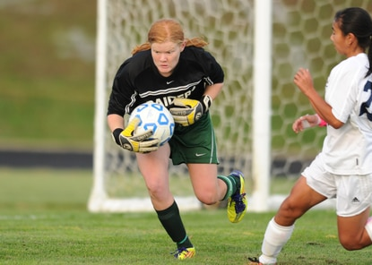 Atholton goalie Sage Mayhew made fives saves against Reservoir Thursday in a 2-0 Raiders victory.