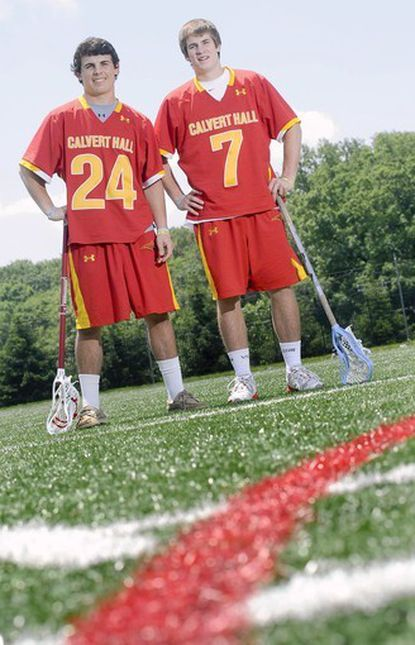 2012 Towson Times Co-Players of the year Stephen Kelly and Patrick Kelly led Calvert Hall to an MIAA A Conference title.