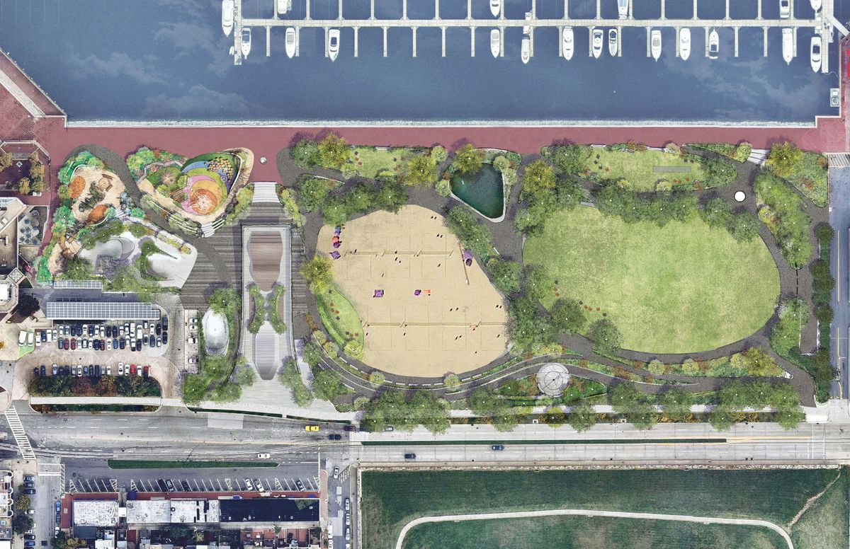 Work to begin this winter on improving Rash Field in Baltimore's Inner Harbor