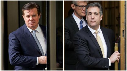 In a split screen for the history books, Michael Cohen's admission to the crimes in federal court came at nearly the same moment that Trump's onetime campaign chairman, Paul Manafort, was convicted by a jury of financial misdeeds.