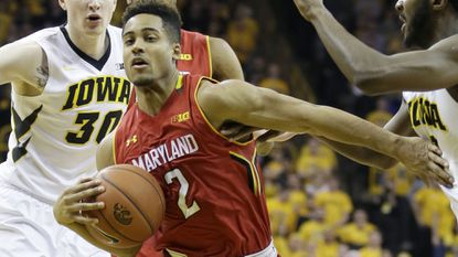 Melo Trimble says he was not intentionally poked in the eye in the Terps' 71-55 loss to Iowa.