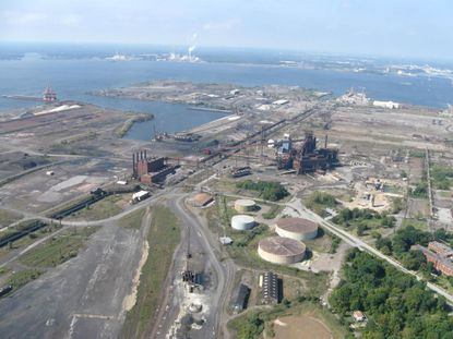 This photo shows how Sparrows Point looked in 2014 before redevelopment of the site got underway. Tradepoint Atlantic is redeveloping the site with distribution centers, port operations and other uses.