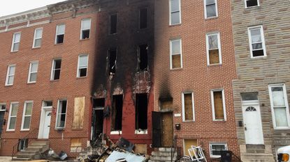 A vacant home caught fire in Sandtown-Winchester early Sunday morning, officials said.