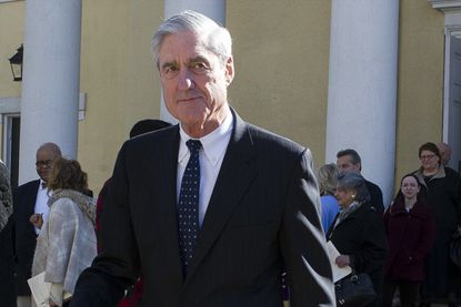 Special counsel Robert Mueller departs St. John's Episcopal Church, across from the White House in Washington, on March 24, 2019.