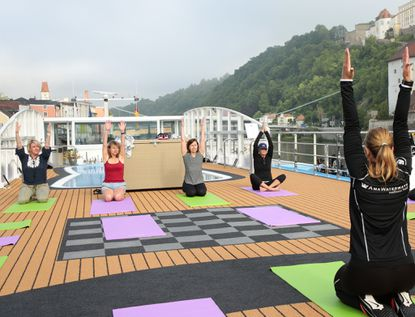 On AmaWaterways cruises, a wellness coach leads daily programming, including yoga.