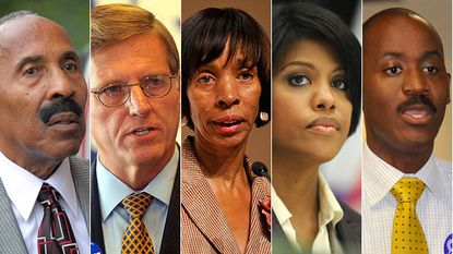 "Candidates running for the Democratic nomination to be mayor of Baltimore include, from left, Frank M. Conaway Sr., Joseph T. ""Jody"" Landers III, Catherine E. Pugh, Stephanie Rawlings-Blake and Otis Rolley."