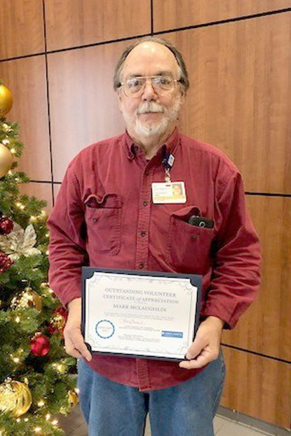 McLaughlin honored as hospital volunteer