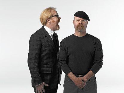 """Adam Savage (left) and Jamie Hyneman of """"MythBusters."""""""
