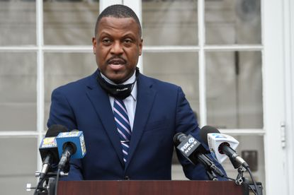 Darryl L. Williams, Baltimore County Public Schools superintendent, speaks at a press conference to update the public on last month's ransomware attack. File.