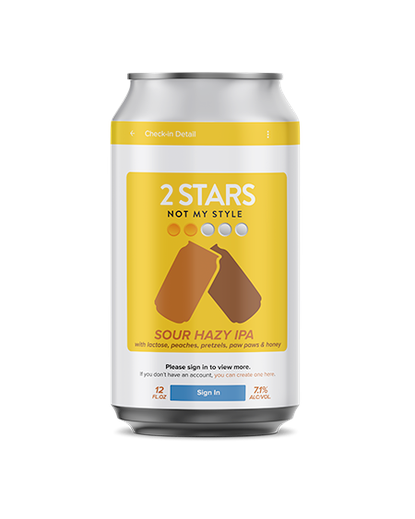 """Label artwork for """"2 Stars Not My Style,"""" a new beer from DuClaw Brewing Company, Key Brewing Company, Charm City Meadworks and World of Beer."""
