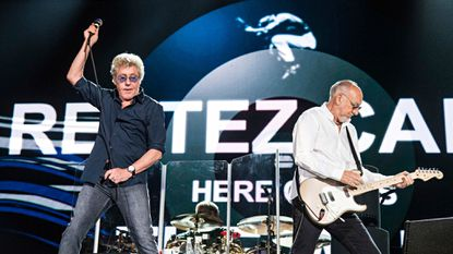 Roger Daltrey (left) and Pete Townshend of The Who are photographed during the Festival d'ete de Quebec on July 13 in Quebec City, Canada. The Who performed at the Theater at MGM National Harbor on Tuesday night.