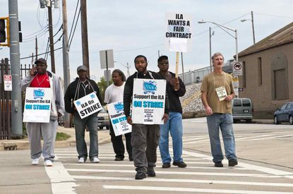 Baltimore stevedores' union sued for payment of illegal-strike award
