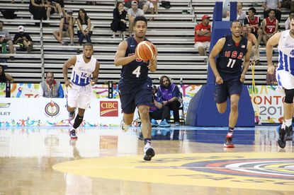 Melo Trimble (Maryland) had five points, five rebounds and four assists Wednesday night as the United States beat Puerto Rico, 102-70, at the Pan American Games in Toronto.